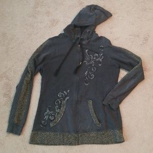 Maurices Tops - Zip up baling hoodie